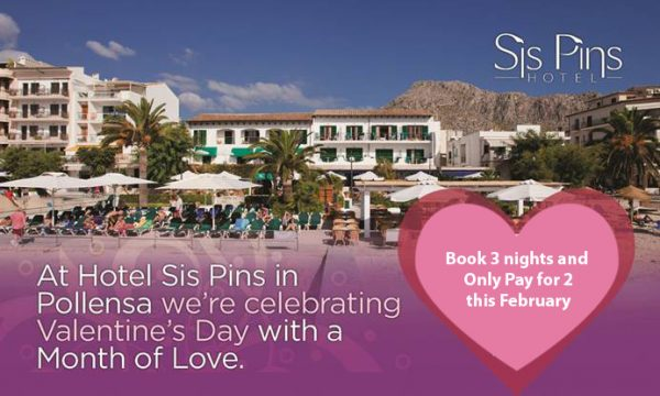 Valentines at the Sis Pins Hotels in Puerto Pollensa